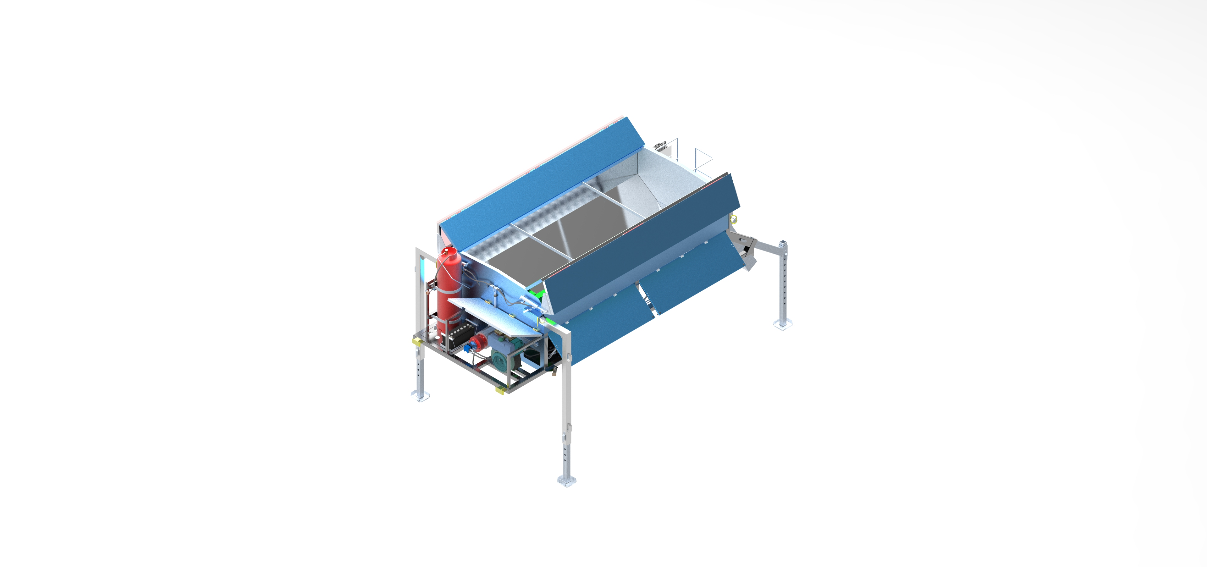 Aszfalt hőntartó konténer